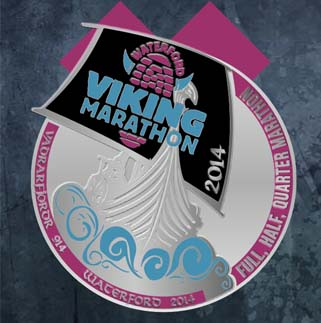 waterford viking marathon medal 2014